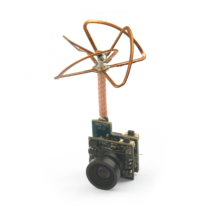 5.8G 25mW 48CH Mini Tiny 520TVL Camera HC25 Build-in FPV Transmitter Antenna for Indoor 80 90 100 Brushed Racing Drone<br>