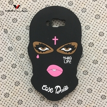 3D Big Eyes Masked Teared Girl Jesus Christian Cross Coque Silicone Phone Back Case for Samsung Galaxy J7 2016 J710 Cover Case