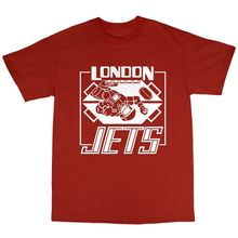 LEQEMAO London Jets T-Shirt 100% Premium Cotton Red Dwarf Inspired Lister Rimmer 100% Cotton Summer T Shirt Top Tees