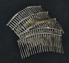 NEW Silver 8cm Metal wire comb hair band for sinamay fascinator.(China)