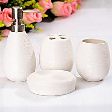 Straw decorative four-piece ceramic bathroom set toiletries toothbrush holder bathroom accessories bathroom amenities