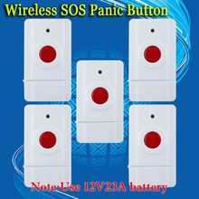 free shipping! Wireless Emergency Panic Button For Our Alarm System 433MHz 5 PCS Key Alert 433MHz