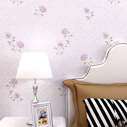 Modern Chinese Children Room Wallpaper Roll 3d Embossed Living Room Background Wallpaper 3d Room Naturally Wall Paper Roses<br>