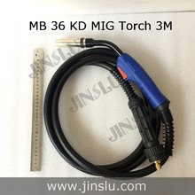 Binzel MB36 36 KD 36KD Air Cooled MIG Torch with Euro Connector 3M Cable