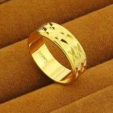 New Arrival!! Fashion yellow 24K gold color  Mens&Women Jewelry Ring Yellow Gold Golden Finger Ring Free Shipping YHDR014