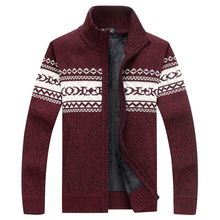 A005 2017 Winter Red Standard Wool Cardigan Sweater Men(China)