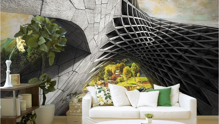 3d stereoscopic wallpaper custom Creative photo 3d wallpaper wall paper rooms abstract beautiful background wallpaper<br>