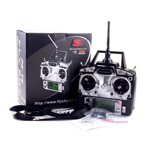 1pcs FS FlySky FS-T6 FS T6 6ch 2.4g with LCD Screen Transmitter with FS R6B Receiver For RC Helicopter