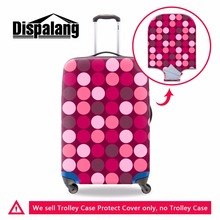 Dispalang Personalized Luggage Cover for 18-30 inch Suitcase Patchwork Pattern Luggage protectors for Girls Duffle Dustproof