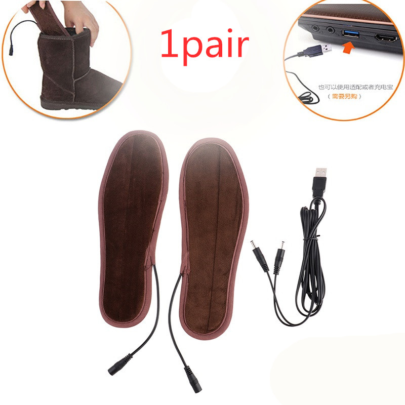 USB Electric Heated Shoe Insoles Feet Massage Heater Pads Winter Warm Insole Foot Massage Multi Size