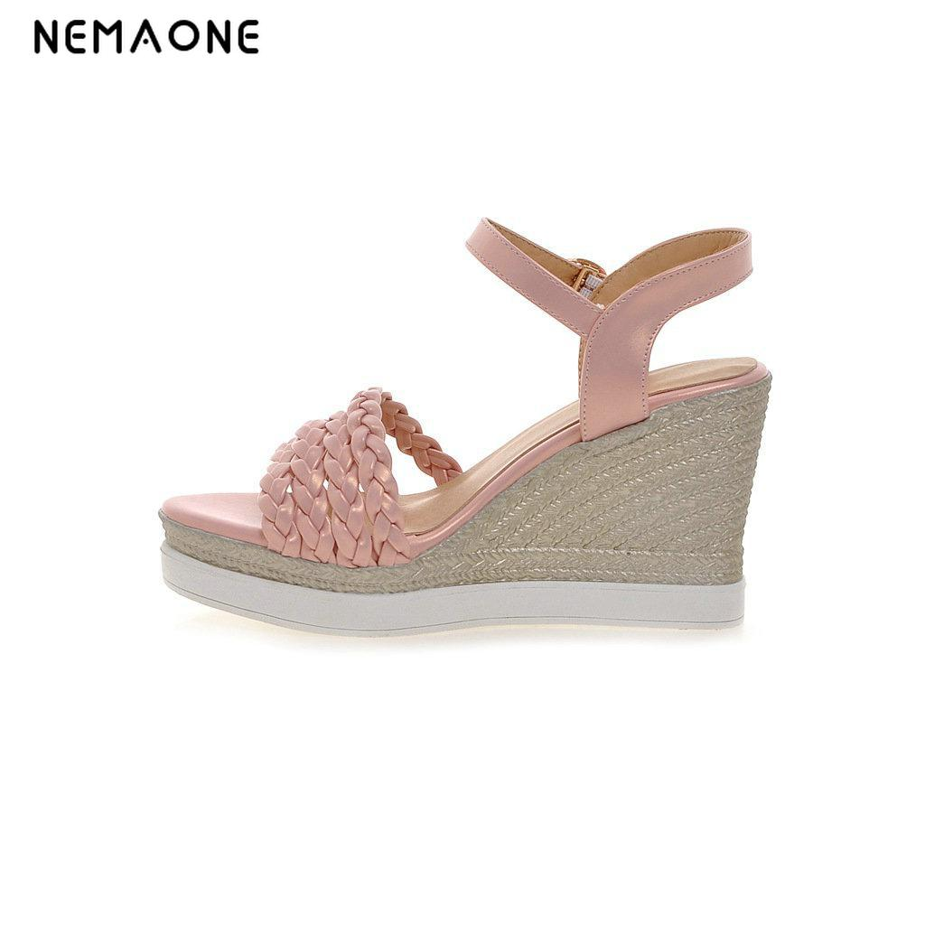 NEMAONE 2017 women wedges sandals womens platform sandals fashion summer shoes women casual shoes free shipping Female<br>