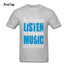 My Neighbors Listen To Good Music Boy T Shirt 100% Cotton Short Sleeve Crew Neck Tshirt Tees Teens 2017 Modern T-shirt For Male