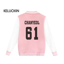 Exo Kpop Harajuku Sweatshirt Fashion Hoodies Man Women Member Name Print Fans Supportive Pink Hoodie Cotton Plus Size Sudaderas
