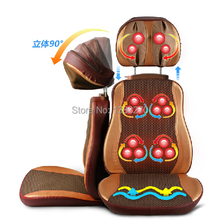 Electric heated Luxury massage cushion vibrating neck back massage chair cover
