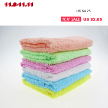 2PCS Super absorption hot sale promotion 100% cotton candy color hand towel useing kitchen cute 1pcs/lot cheap for wholesale