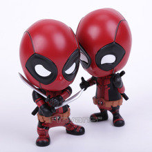 HOT TOYS Deadpool COSBABY PVC Figure Toys Collectible Bobblehead Action Figures Toy Dolls 4
