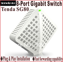 Network Switches Plug and Play, Gigabit Speed Tenda SG80 10/100/1000Mbps 8-ports Gigabit Switch16G switch capacity(China)