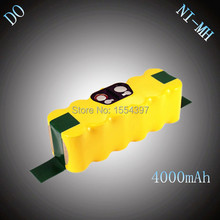14.4V NI-MH 4000mAh Rechargeable Battery Pack Replacement for iRobot Roomba 530 550 560 570 610 630 650 660 780 80501 870 880(China)