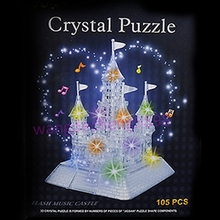 3D Castle IQ Toy Music Flash Crystal Puzzle Jigsaw Model Home DIY Toys Town Better Decoration With Retail Box