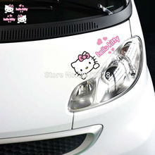 20 x Newest Design Hello Kitty Creative Auto Decal Set Cartoon Car Sticker Car Bumper Body Decal Creative Pattern Vinyl