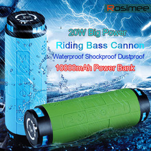 20W Deep Bass Outdoor bike Bluetooth Speaker 10000mAH Power Bank Waterproof Portable 3D Stereo HIFI Wireless Speaker with Mic(China)