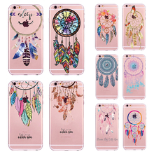New Phone Case Cover For iPhone 5 5s SE 6 6S 7 Soft Silicon Colorful Hollow Transparent HENNA OJIBWE DREAM CATCHER Ethnic Triba