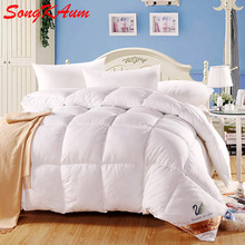 100% White Duck/Goose Down Winter Quilt Comforter Blanket Duvet Filling With Cotton Cover Twin Queen King Size