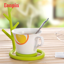 Eonpin Variety Tree Green shelf temperature function creative coasters keys hanging jewelry tree stand Storage Holders & Racks