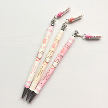 X18 3X Kawaii Pink Rabbit Press Automatic Mechanical Pencils Wrting Test Pencil School Office Supply Student Stationery 0.5mm