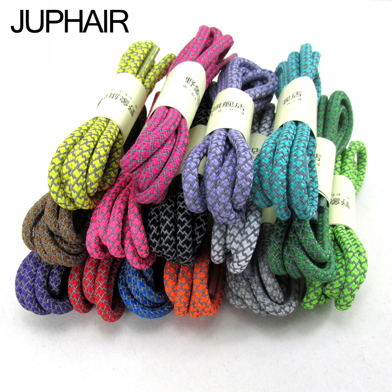 JUP 12per Classic 3D Reflective Glowing Laces Round Glow in The Dark Luminous Light Hiking Shoelaces Fluorescent Colo Shoestring<br><br>Aliexpress