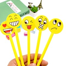 12pcs Funny Emoji Smile Face Gel Pen Students Stationery Children Kids Party Gift Party Favors Christmas Birthday Gift(China)