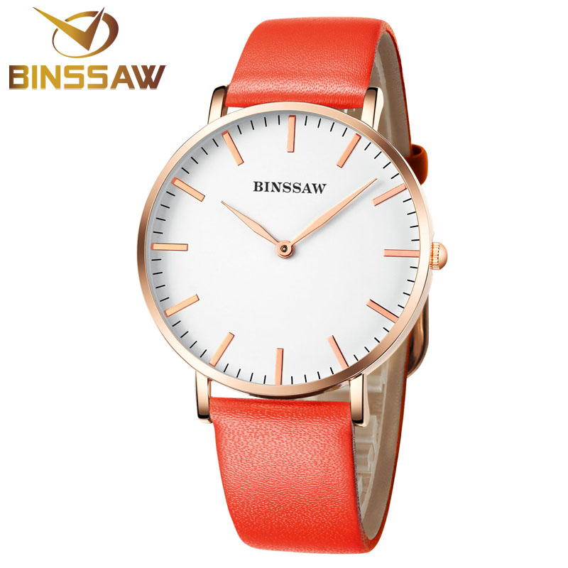 BINSSAW Women Quartz Watche Luxury Brand Top Fashion Business Watch Delicate Leather Ladies Dress Wrist Watch relogio feminino<br>