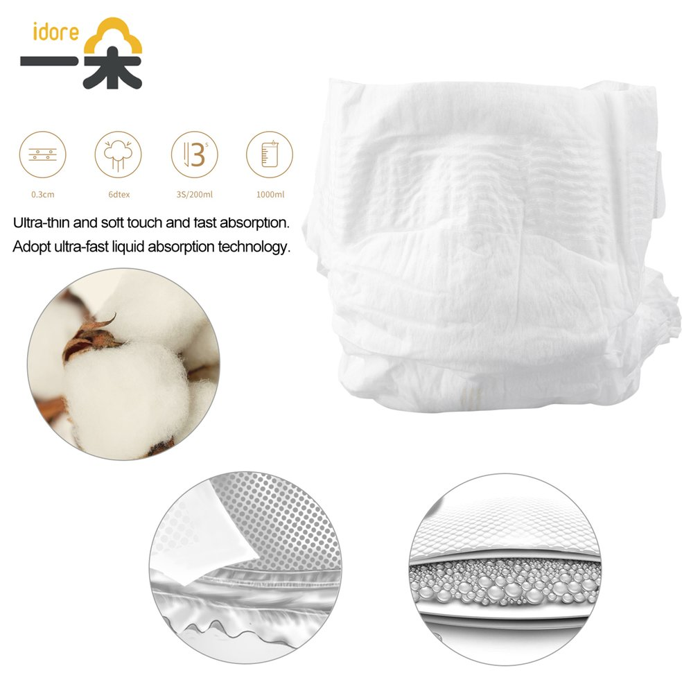 Idore Platinum Diaper Pants Size S/XL 72/50pcs Baby Diaper Disposable Nappies Super Soft Thin Dry Diaper Lasting Dry All Night<br>