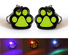 Footprints LED Flash light dog Collar Charm Pet Cat dog collar pendant ID tag Bone Necklace Collar Puppy collar accessory
