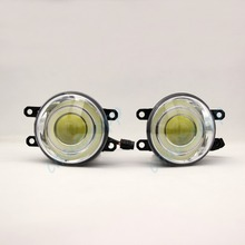 COB Foglight 18W Special LED Fog Lamp Angel Eyes Projector For Toyota Corolla /Prado /Sienna /Camry /Prius /Yaris etc - One Pair