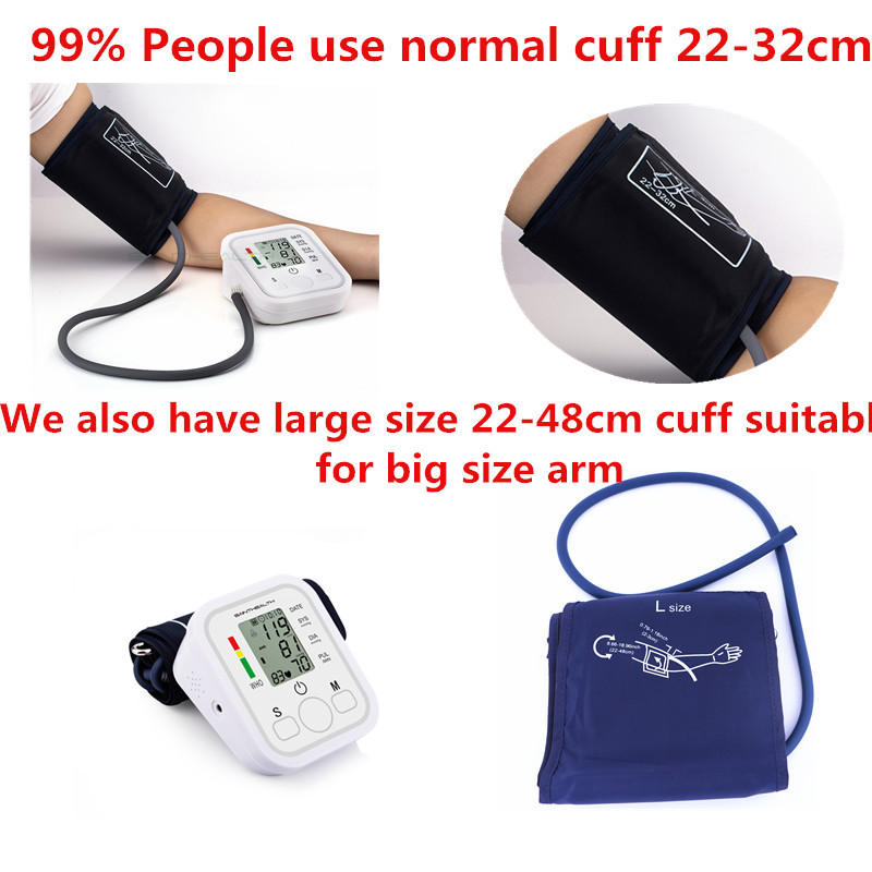 Home-Health-Care-1pcs-Digital-Lcd-Upper-Arm-Blood-Pressure-Monitor-Heart-Beat-Meter-Machine-Tonometer_