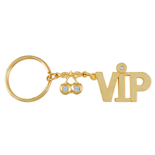 Wholesale VIP member small gift Cherry keychain Store activity small trinket to customer cute keyring souvenirs russian letters