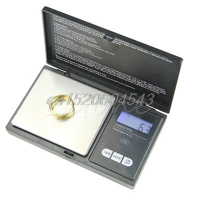 500g * 0.1g LCD Digital Pocket Scale Jewelry Gold Gram Balance Weight Scale R02 Drop ship