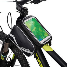 ROSWHEEL Bicycle Smart Phone Bag 5.7 / 6.2 inch Large Touch Screen MTB Road Bike Cycling Top Frame Tube Basket Storage D12813M