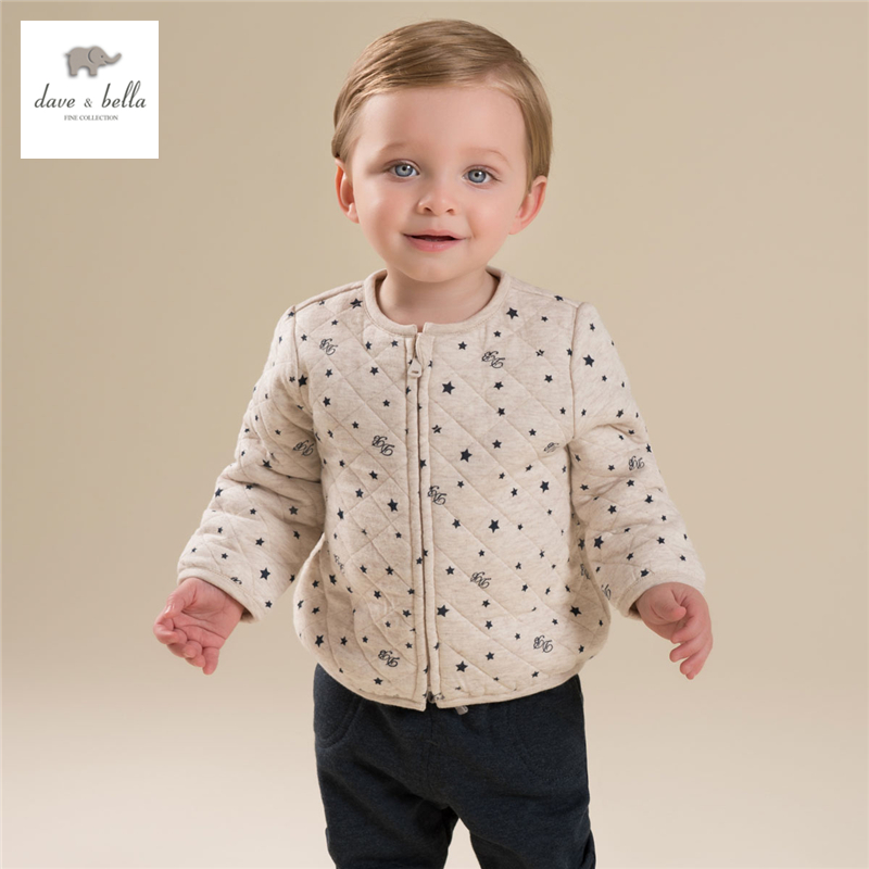 DB4273-B davebella autumn padded top basic jacket chilren coat kids clothes for boy<br>