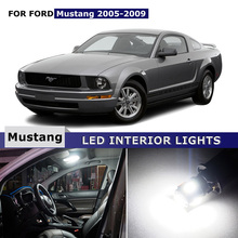 5pcs Xenon White Car Interior Lights Map Trunk License Plate light LED Bulbs Package kits For Ford Mustang 2005-2009