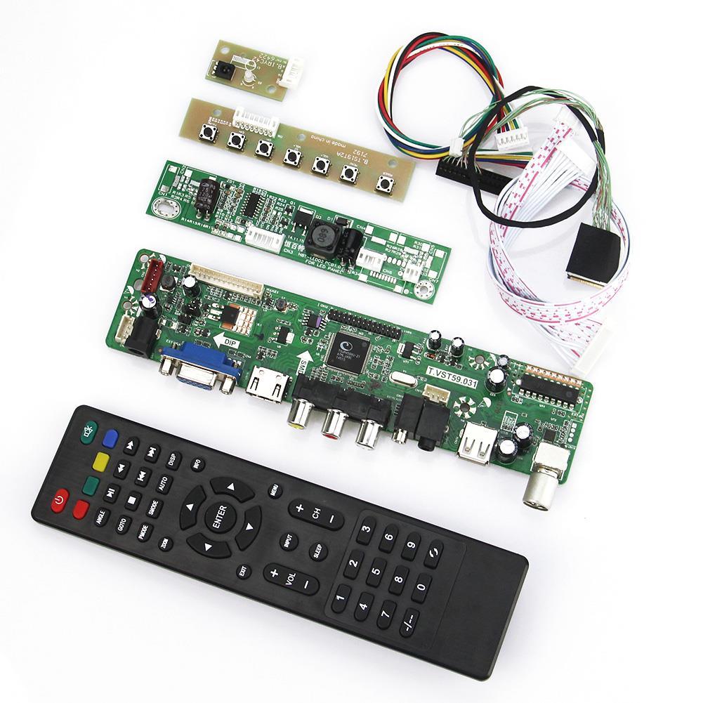 T.VST59.03 LCD/LED Controller Driver Board(TV+HDMI+VGA+CVBS+USB) For B101UAN02.1 V.1 LVDS Reuse Laptop 1920*1200<br>