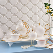 Top Quality Porcelain Coffee Set Bone china Tea set Service for 6 People High-level Gift