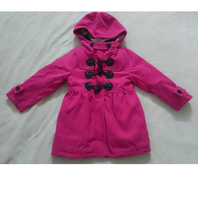 Hot Selling Winter Infantil Baby Boys Girls Horn Button Long Woolen Thicker Coat Kids Clothes<br>