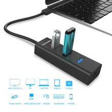 TeckNet Aluminum 3-Port USB 3.0 Hub with RJ45 10/100/1000 Gigabit Ethernet Adapter Converter LAN Wired USB Network Adapter(China)