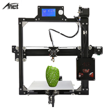 Hot! Anet A2 Metal 3D Printer Machine Reprap Prusa i3 3D Printer LCD2004 220*220*220/220*270*220mm option with 2Rolls Filaments