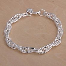 SLH138 Wholesale silver plated bracelet, Factory price fashion jewelry Purple Bracelet /axhajooa