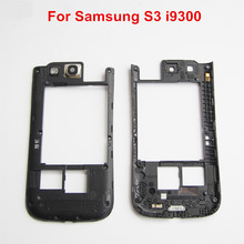 Middle Housing Frame Bezel Parts For Samsung Galaxy S3/S3 Neo I9300 I9301 I9305 I535 I747 T999 R530 Middle Chassis Plate Bezel(China)