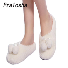Buy Fralosha Lovely Keep Warm Soft Indoor Slippers Cotton Shoes Plush Female Floor Shoes Fleece Indoor Shoes Woman Home Slippeers for $6.56 in AliExpress store