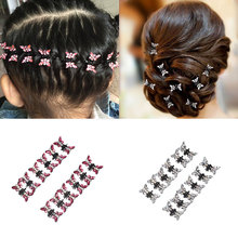 M MISM 1 pack=12pcs 2017 Flower Hairpins Retro Mini Butterfly Hair Claws Women Bride Wedding Headdress Kids Hair Accessories(China)